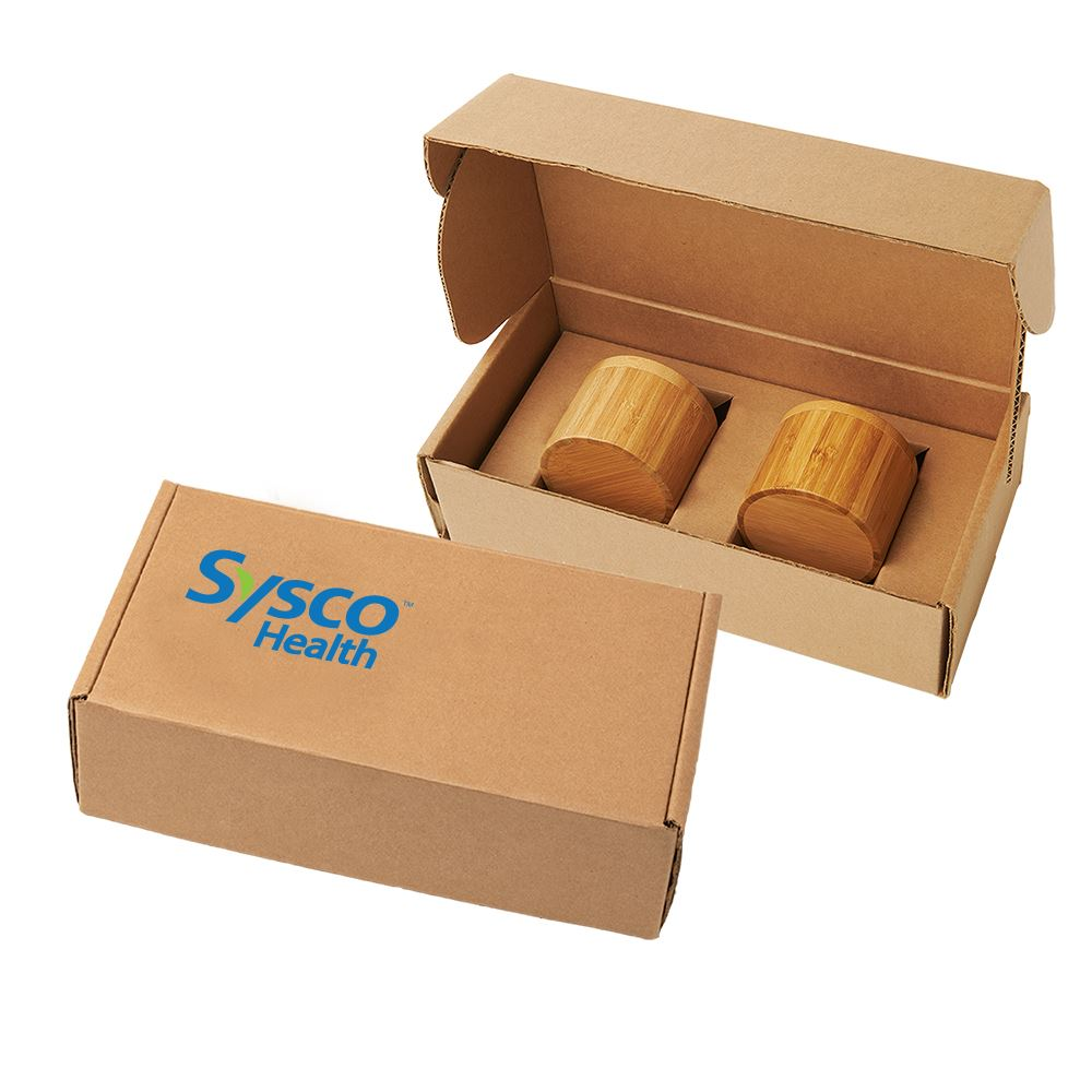 Bamboo Slide-Lid Container Gift Set- Personalization Available