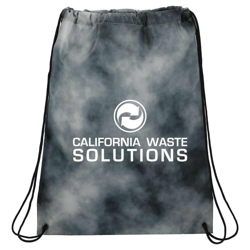 Tie Dyed Drawstring Bag-Personalization Available