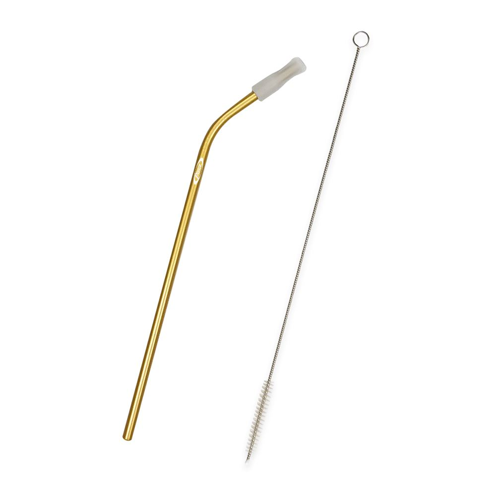Bent Stainless Steel Straw - Personalization Available