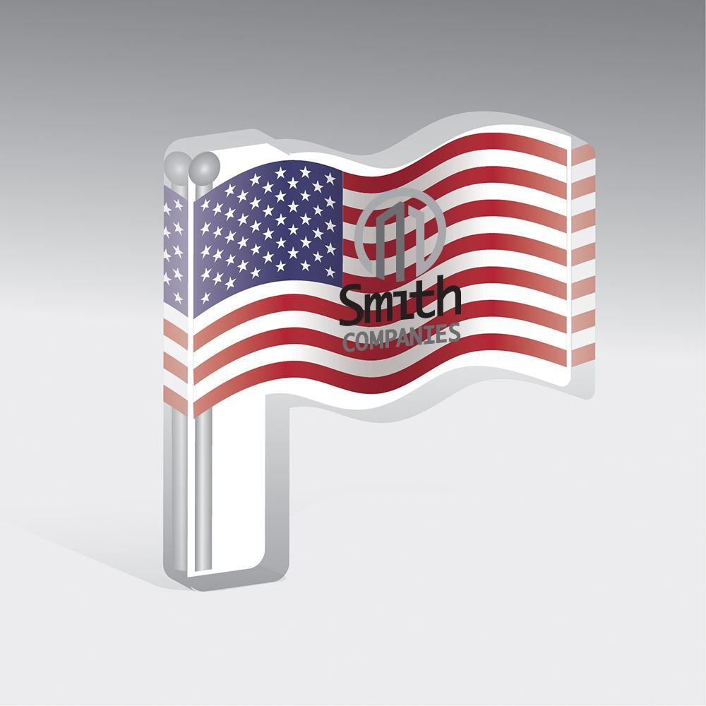 Large Acrylic Flag Mask Perch - Personalization Available