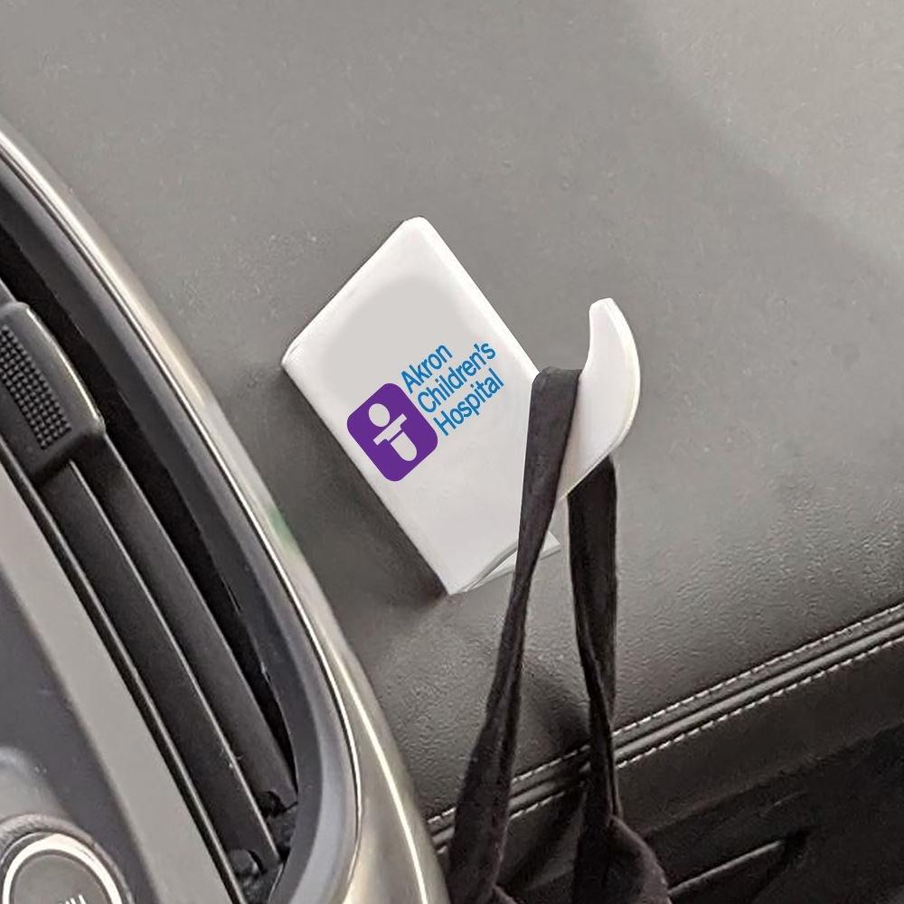 White Acrylic Auto Mask Perch - Personalization Available