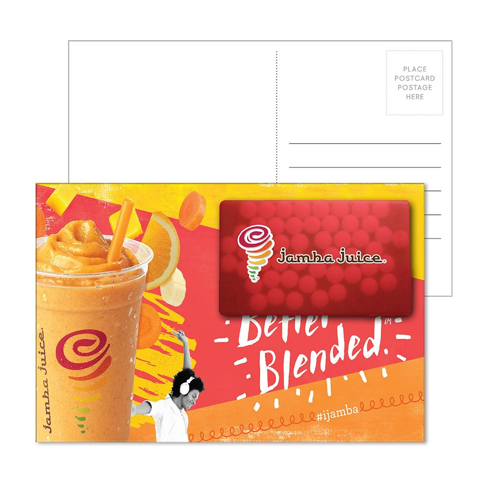 Post Card with Rectangle Credit Card Mints - Full Color Personalization Available