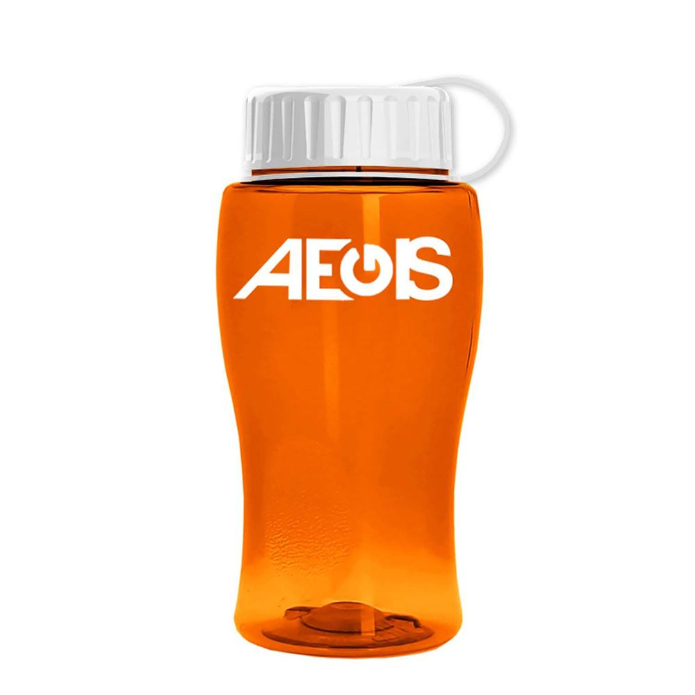 18-oz. Transparent Bottle With Tethered Lid-Personalization Available