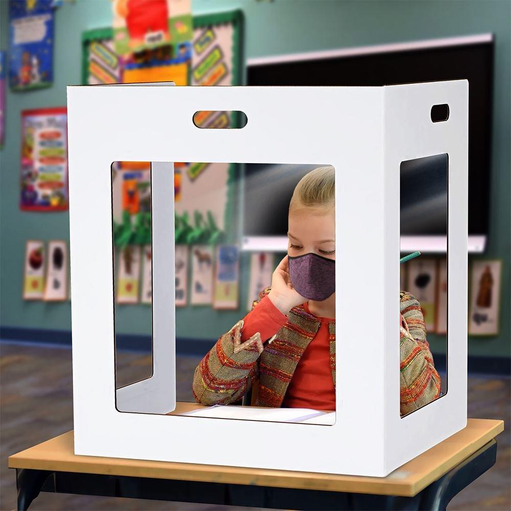 Economical Corrugated Cardboard School Desktop Barrier