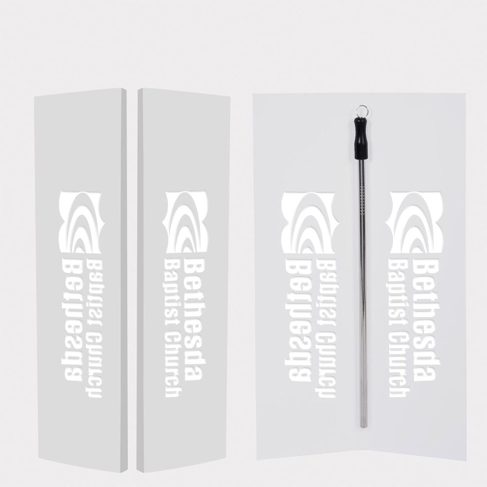 Zagabook with Stainless Steel Straw and Cleaning Brush - Personalization Available