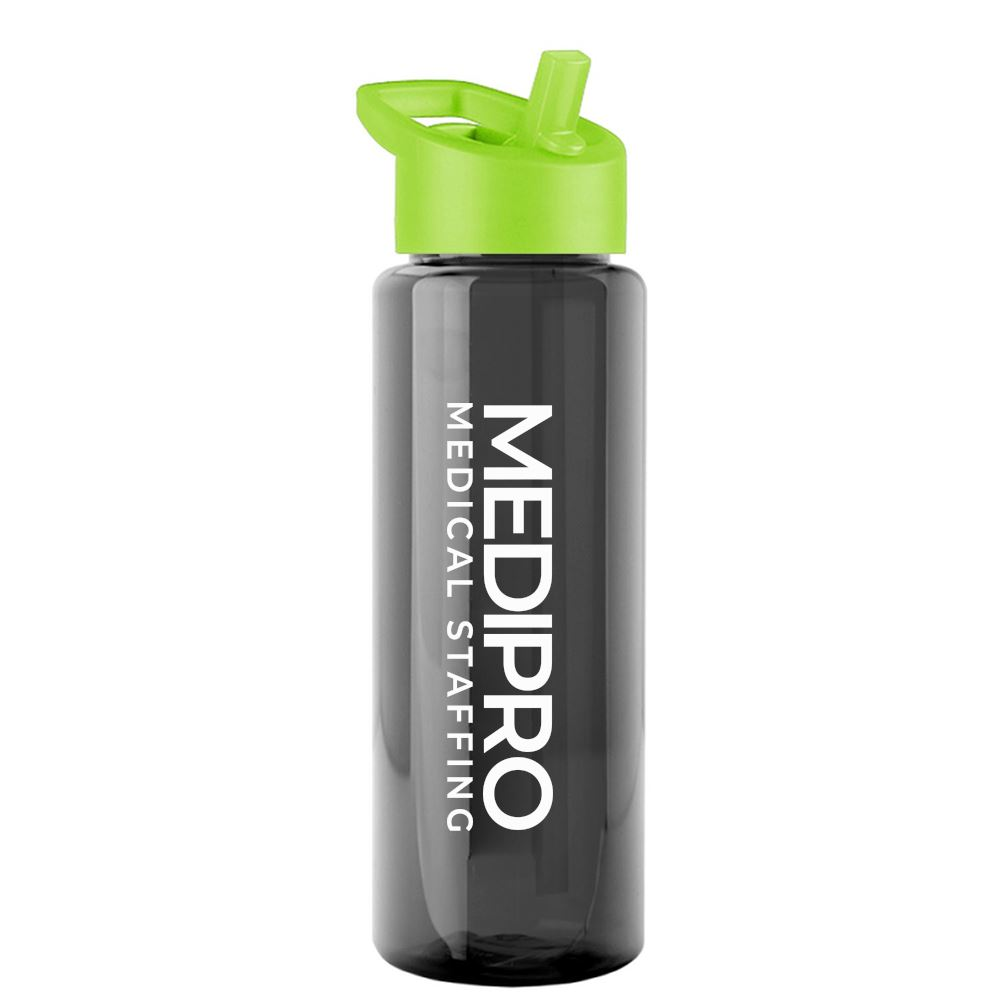 Translucent Bottle Flip Straw Lid 32 oz.-Personalization Available