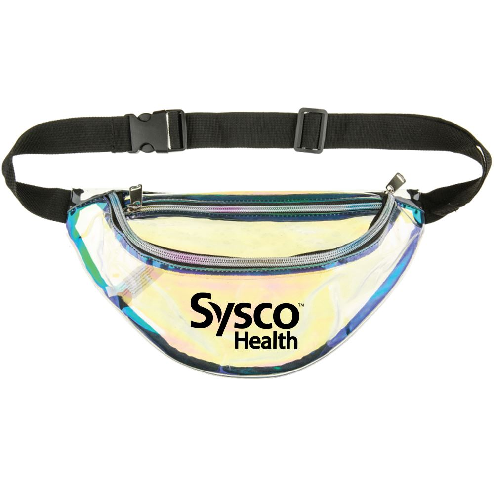 Clear Reflective Holographic Fanny Pack-Personalization Available