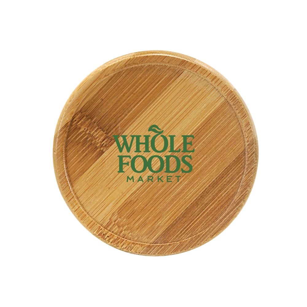 Bamboo Round Beverage Coaster-Personalization Available