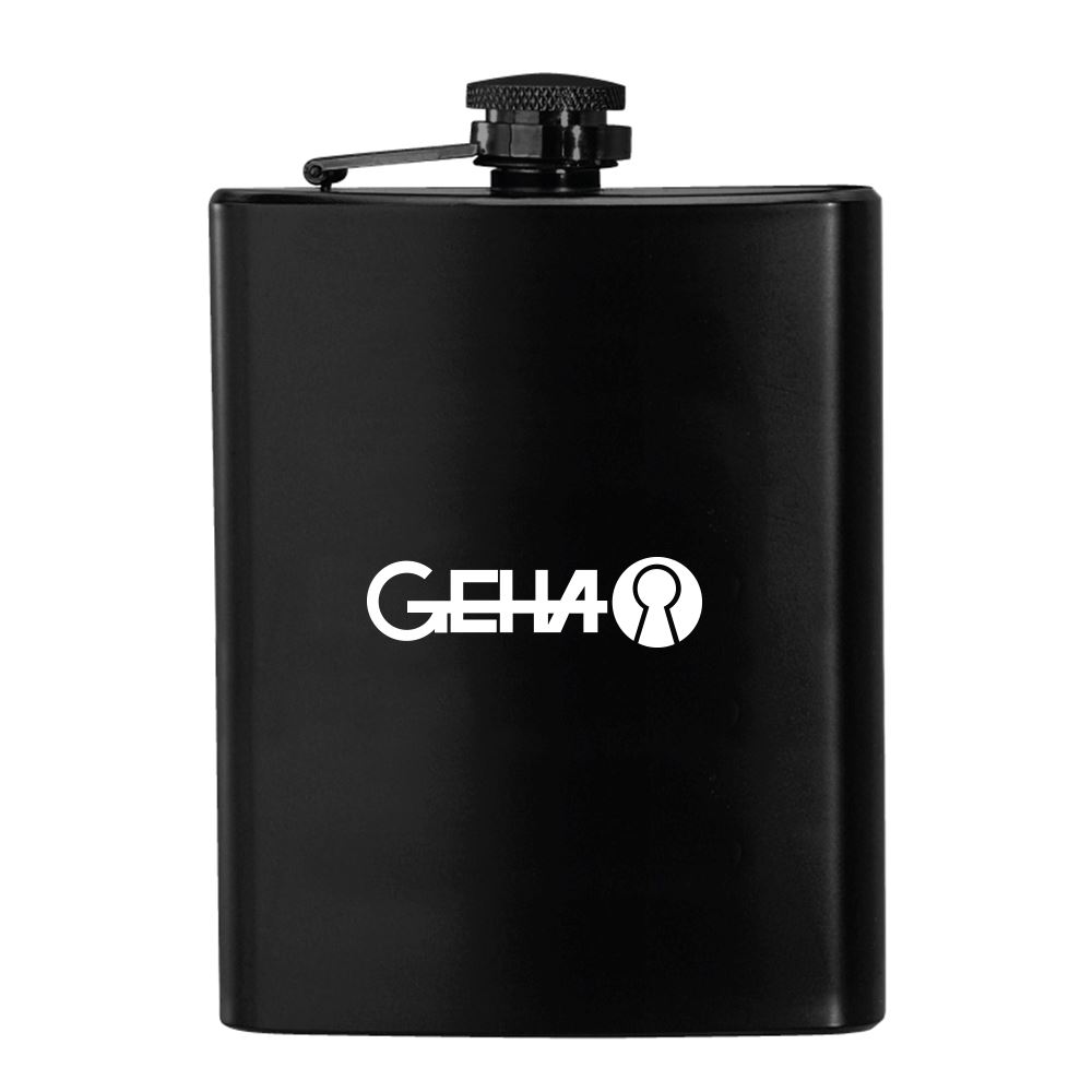 Black Stainless Steel Hip Flask 8 oz.- Personalization Available