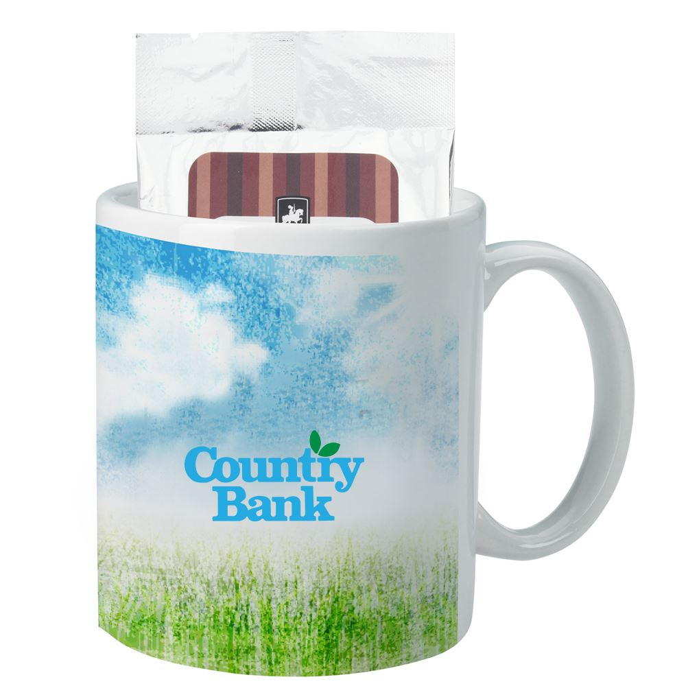 Full Color Mug with Hot Cocoa 11 oz.-Full Color Personalization Available
