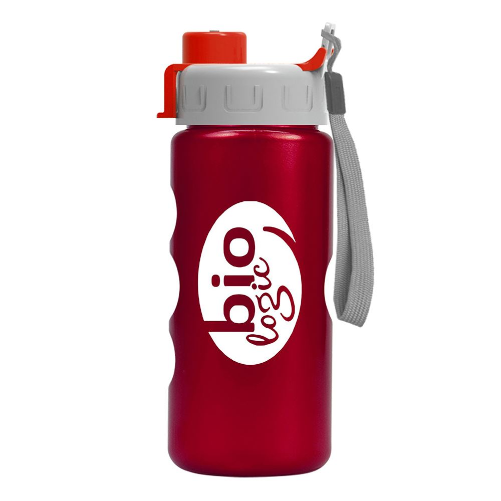Mini Peak Metalike Bottle With Quick Snap Lid - 22 Oz.-Personalization Available