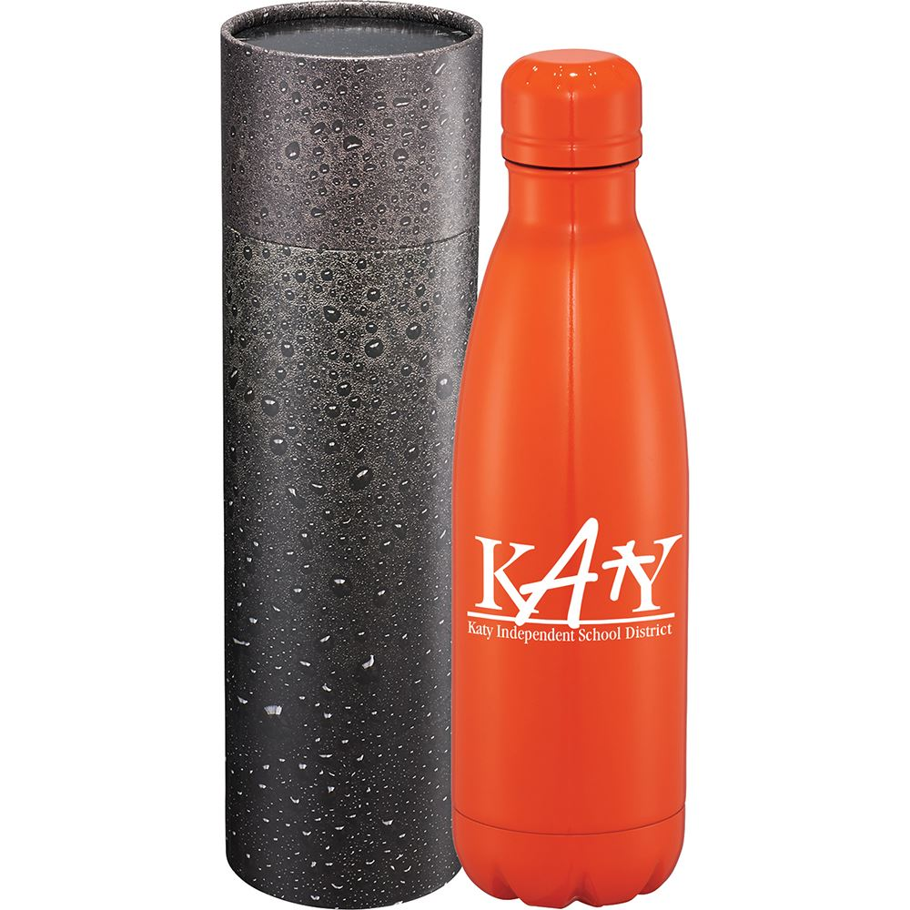 Copper Vac Bottle 17oz with Cylindrical Box - Personalization Available