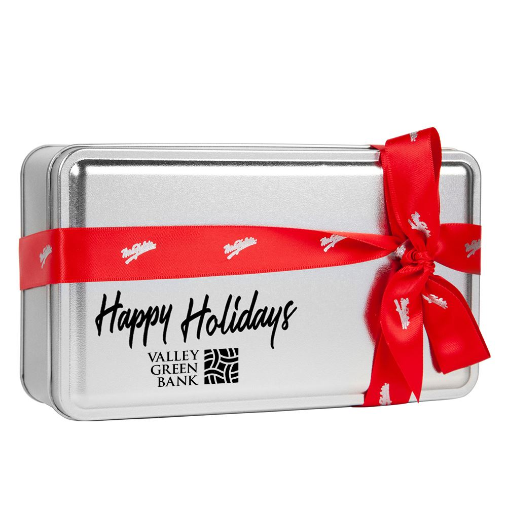 Mrs. Fields Holiday Variety Cookie Tin - Personalization Available