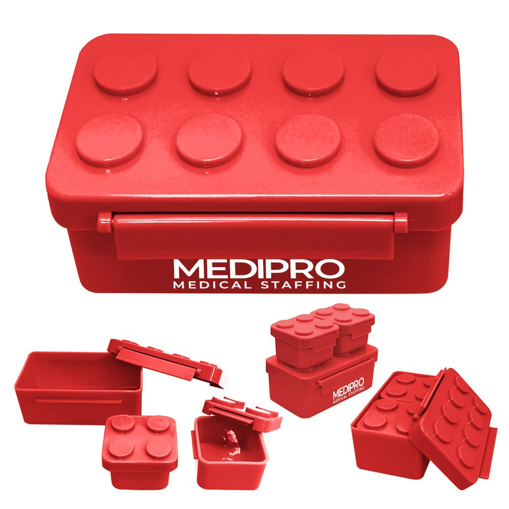 Building Block Stackable Lunch Containers- Personalization Available