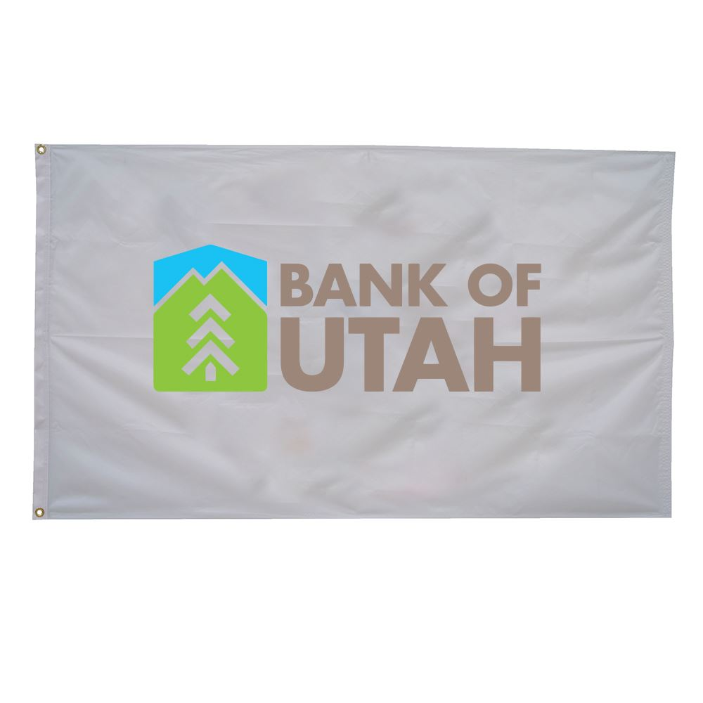 Nylon Flag (Single-Sided) - 2' x 3' - Full Color Personalization Available