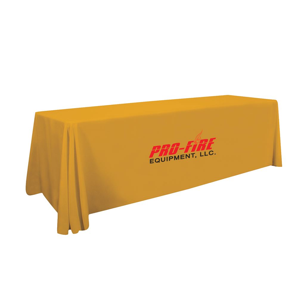 8' LazerLine 4-Sided Throw Full-Color Front Only- Personalization Available