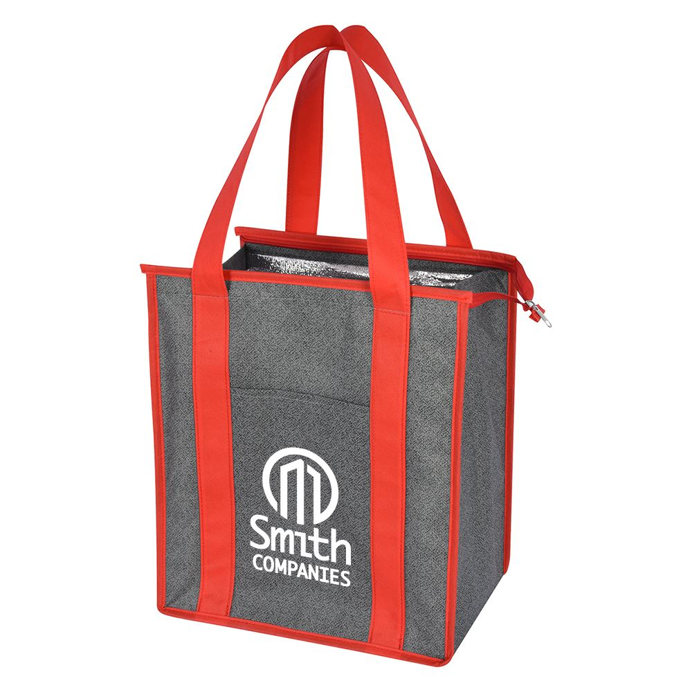Heathered Non-Woven Cooler Tote Bag - Personalization Available