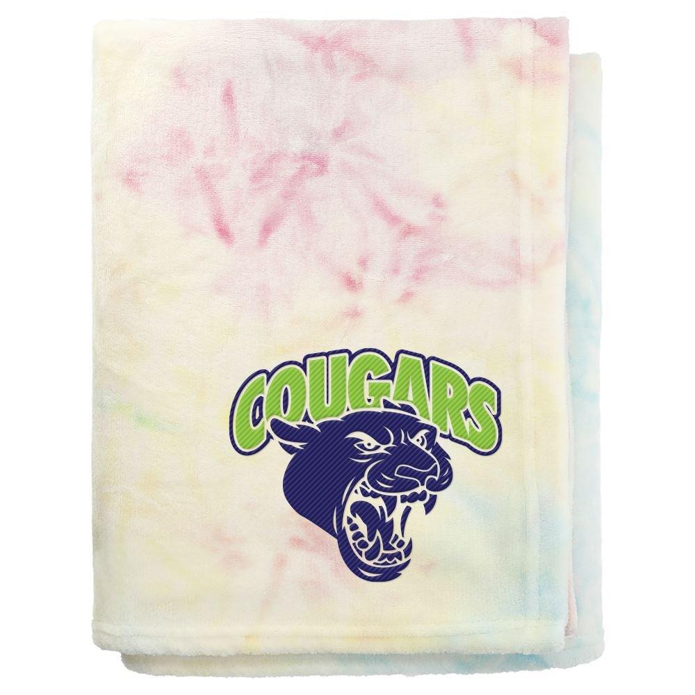 Tie Dye Flannel Fleece Blanket - Personalization Available