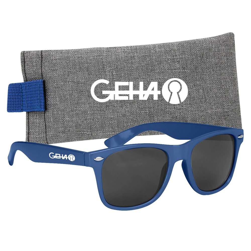 Malibu Sunglasses with Heathered Pouch- Personalization Available