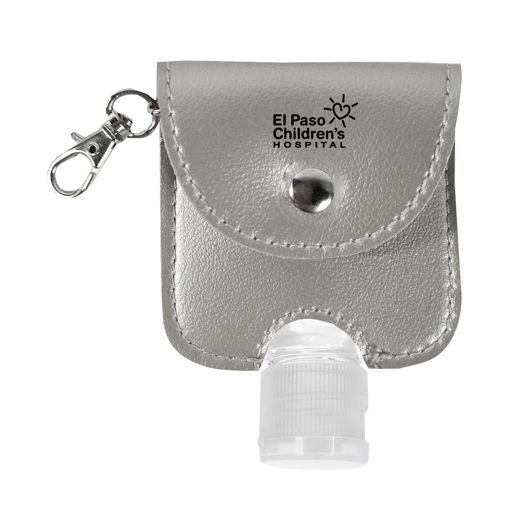1 oz. Hand Sanitizer with Leatherette Pouch- Personalization Available