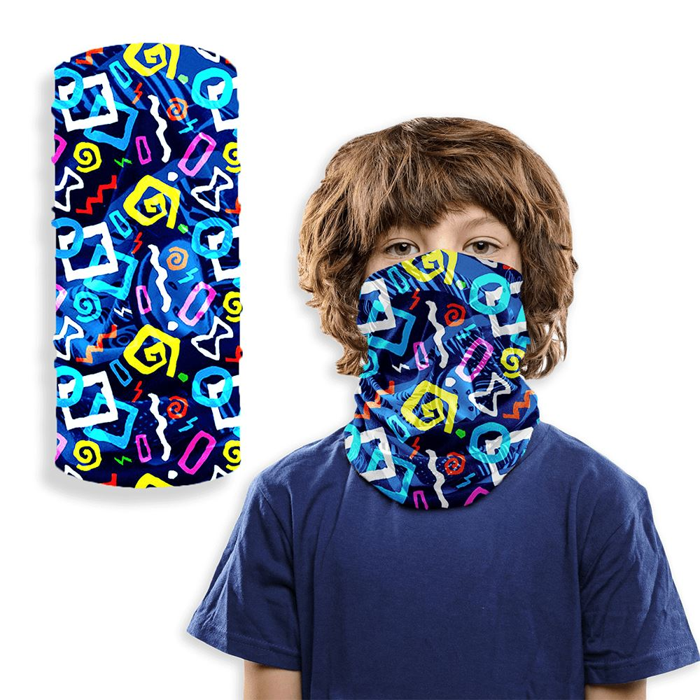 Kids 2-Layer Reusable Face Mask Bandana- Full Color Personalization Available