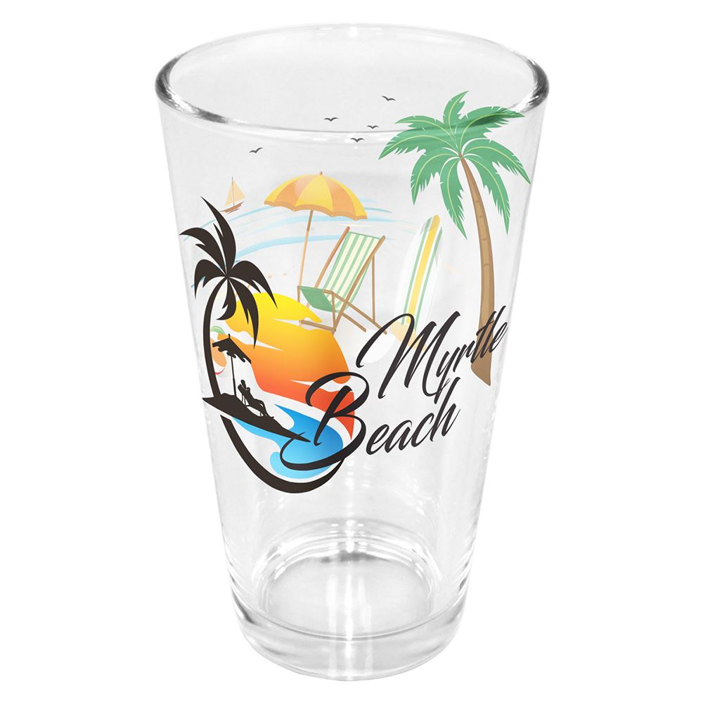 Pint Glass Mirror Printing 16 Oz.-Personalization Available
