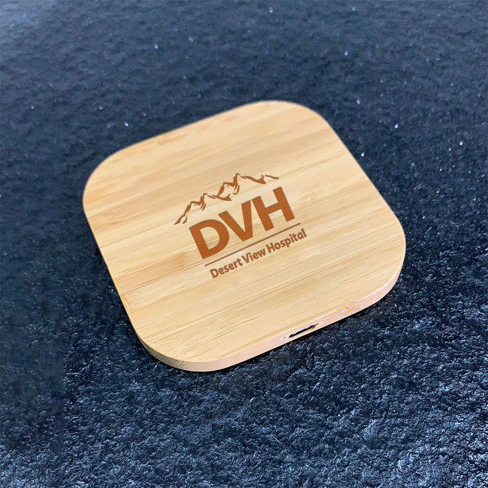 Nature Inspired Bamboo Fast Charging 15W Pad-Personalization Available