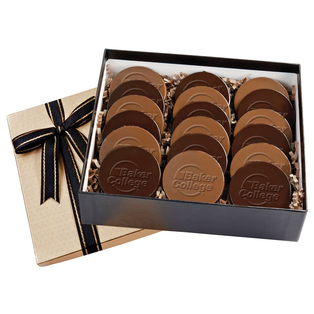 Cookie Gift Box With 18 Round Cookies-Personalization Available