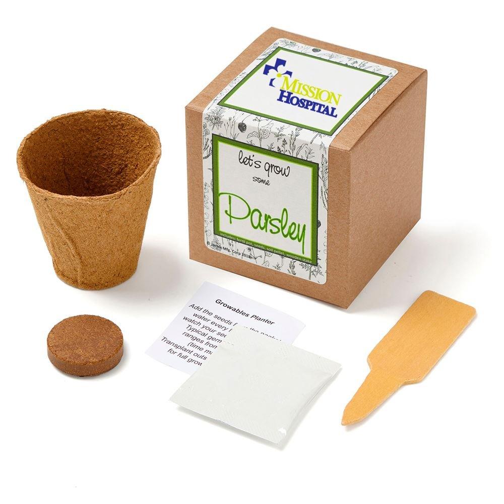 Basil Growables Planter in Kraft Gift Box