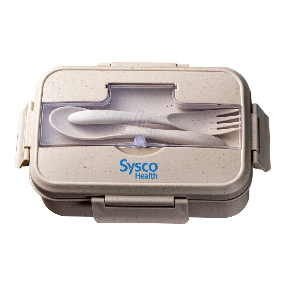 Wheat Straw Lunch Box Set With Utensils