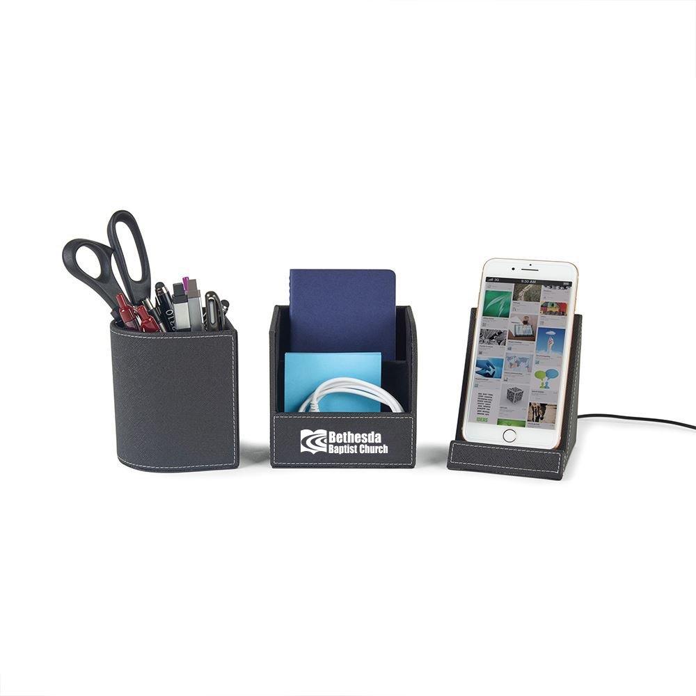 Truman Wireless Charging Desk Organizer