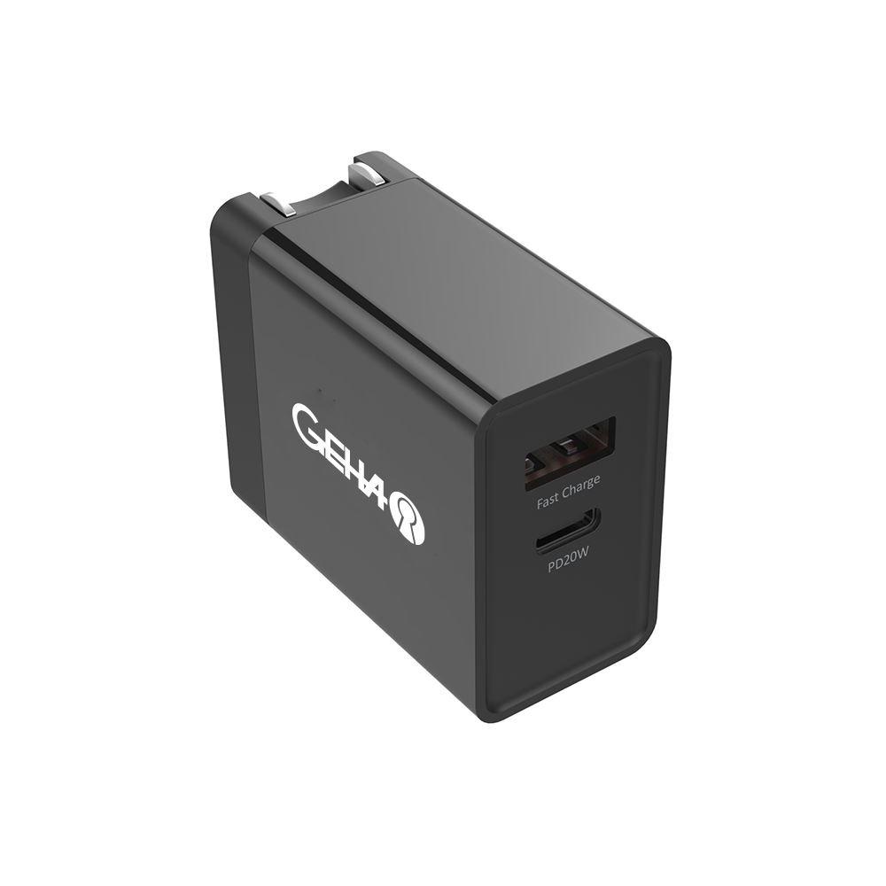 20W USB-C + 18W USB-A Fast Charging Power Wall Adapter