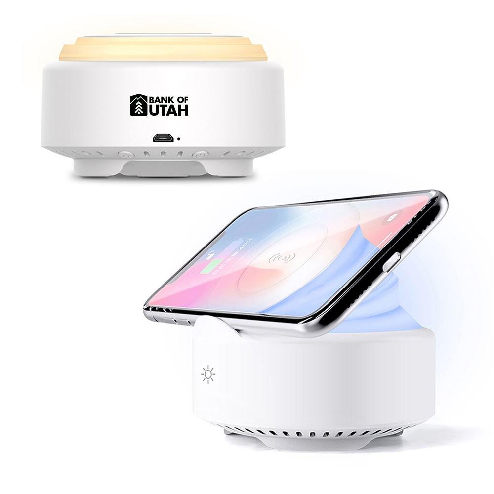Night Light Bluetooth Speaker with Wireless Charging Pad