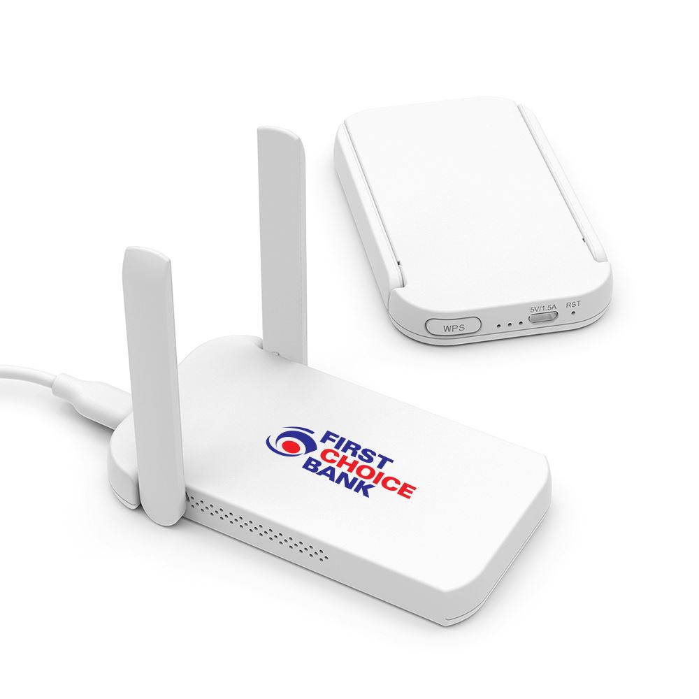 Wave Dual Band Wifi Extender - Full Color Personalization Available