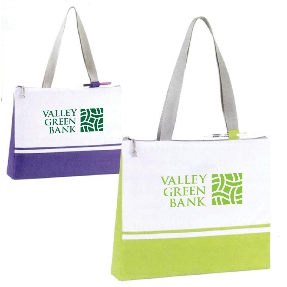 Slender Color Block Convention Tote Bag