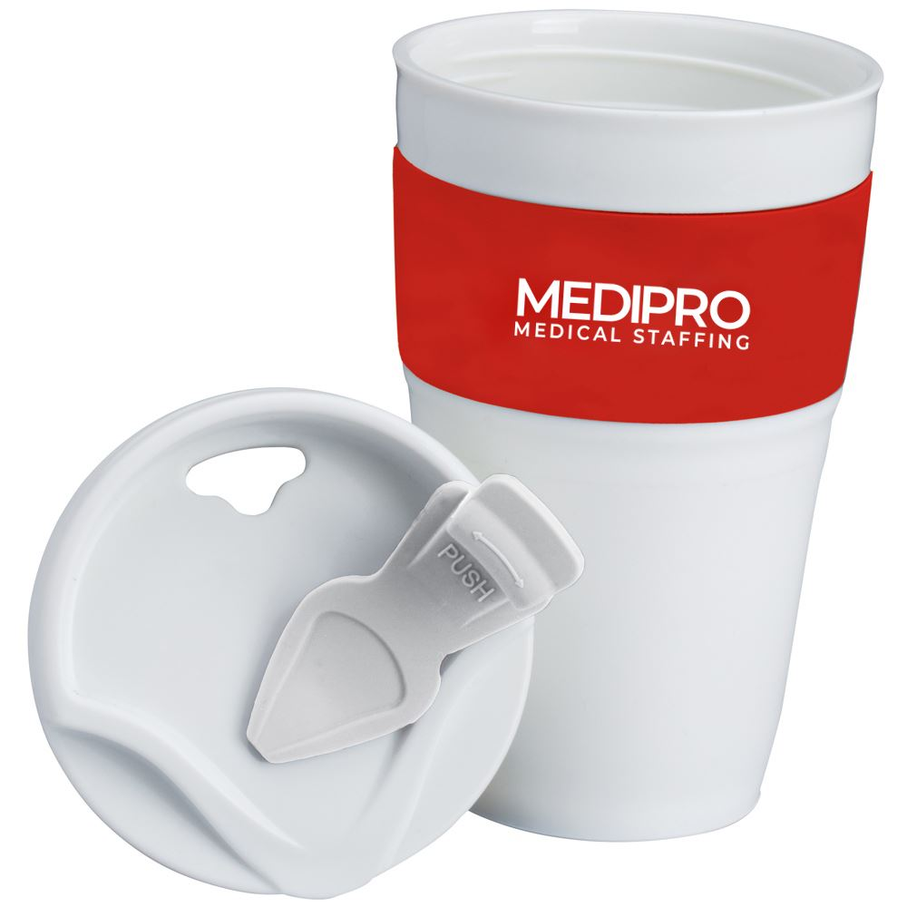 Collapsible Silicone Coffee Mug 12 Oz - Personalization Available
