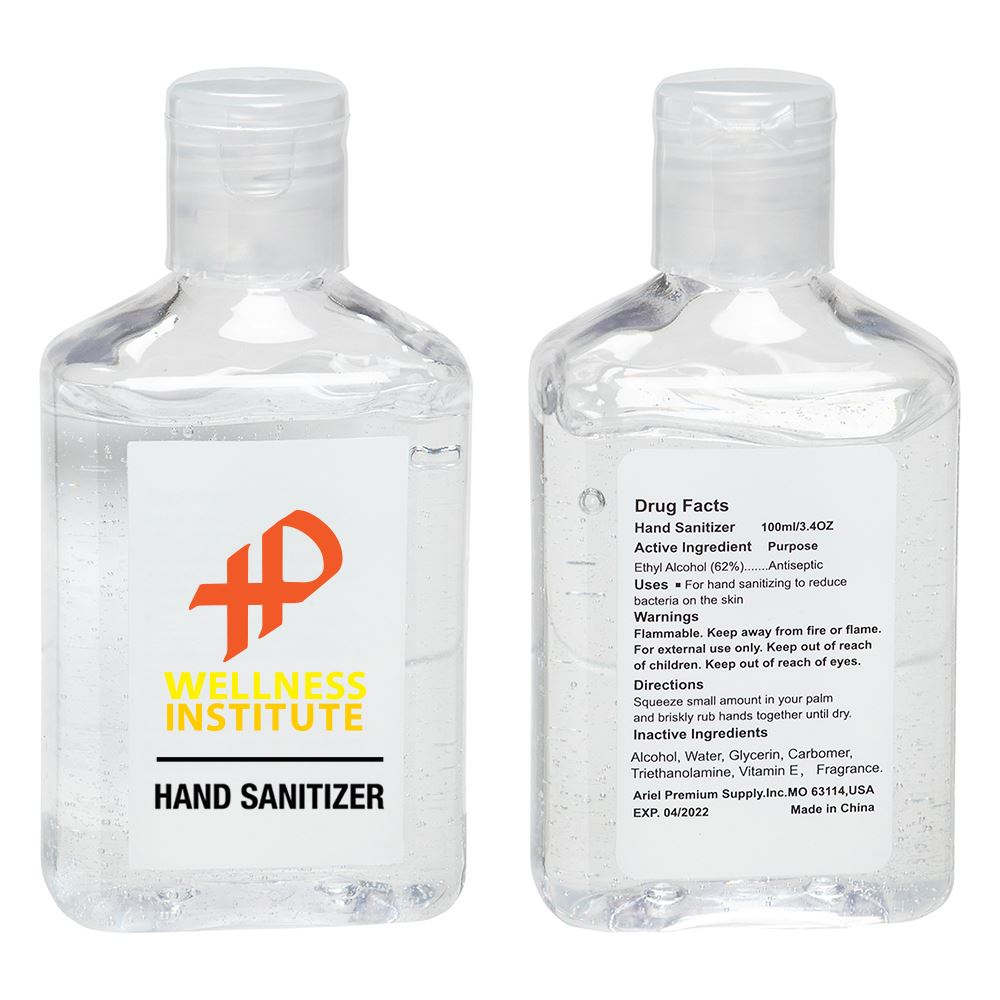 3.4 oz Hand Sanitizer with Vitamin E - Personalization Available