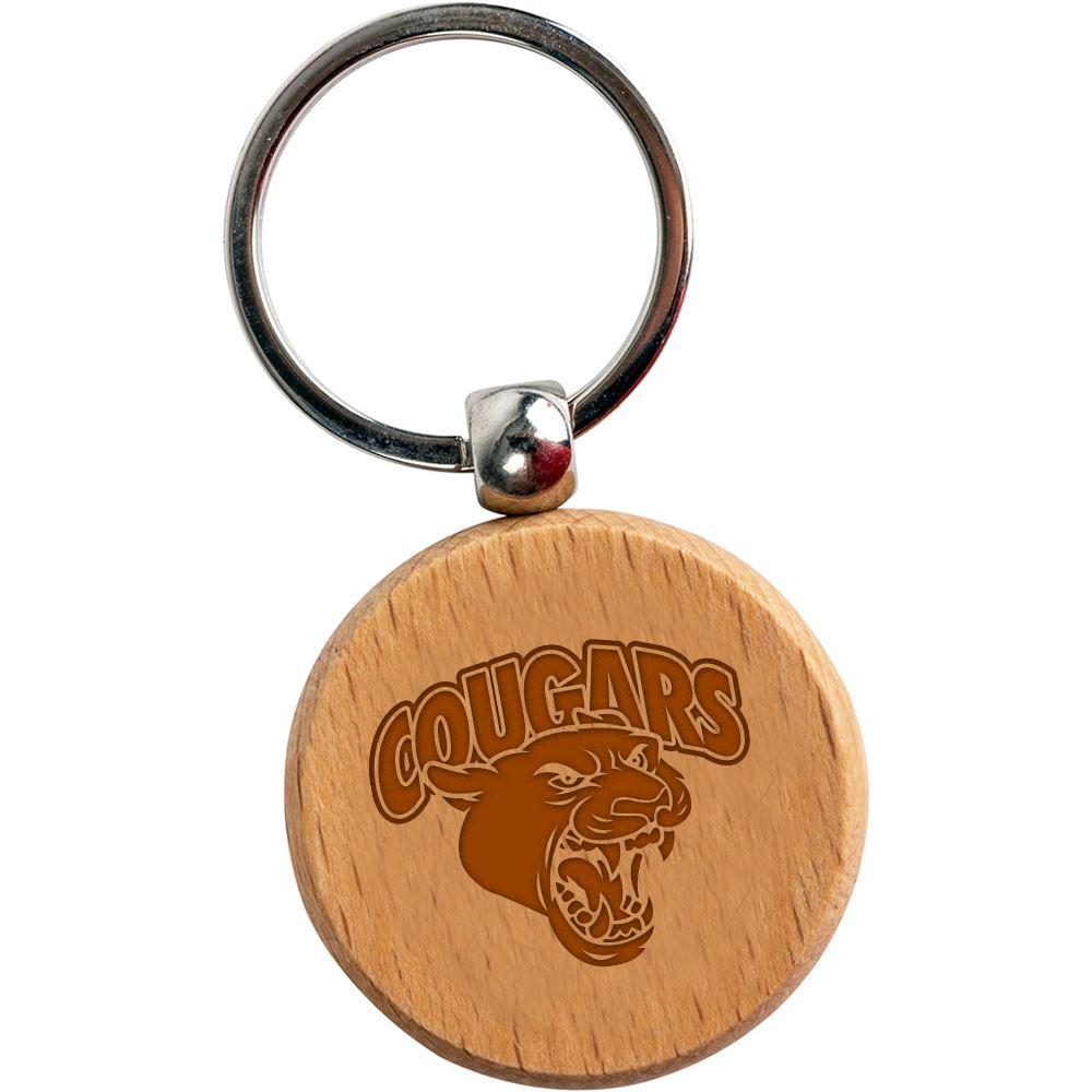 Round Wooden Key Tag - Personalization Available