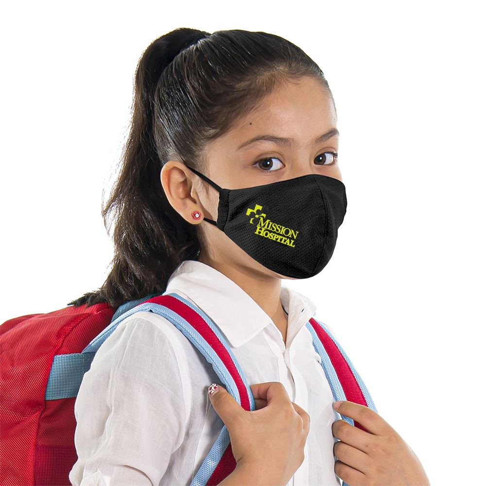 Ionshield Youth 2-Ply Deluxe Cooling Face Mask With Pocket For Filter & Ear Loop Adjustments- Personalization Available