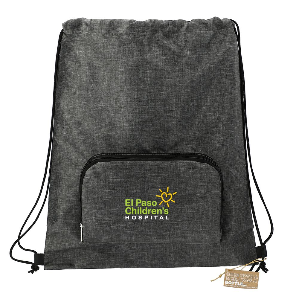 Ash Recycled Packable Drawstring Bag