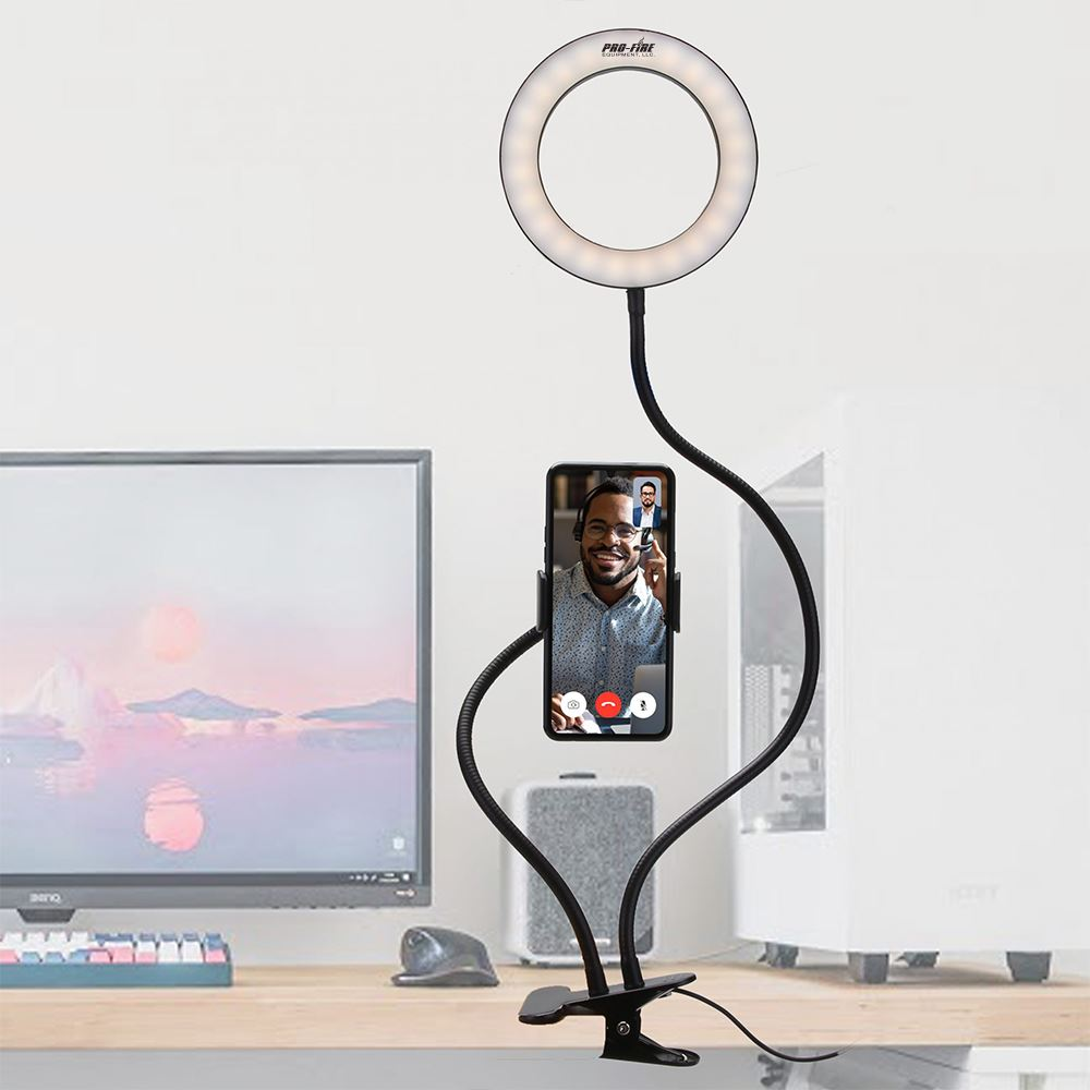 Webcam Ring Light with Cell Phone Holder- Personalization Available