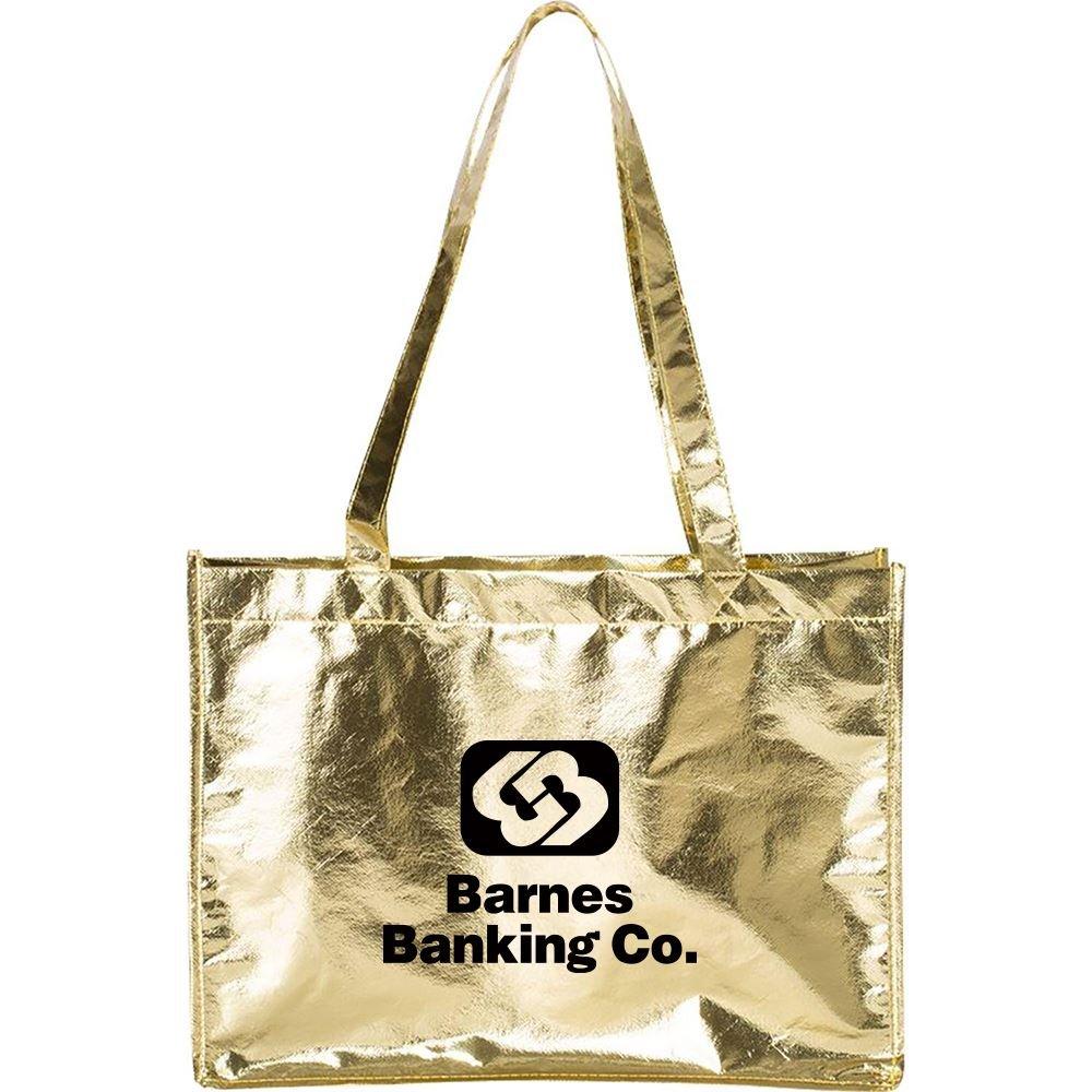 Metallic Large Tote Bag