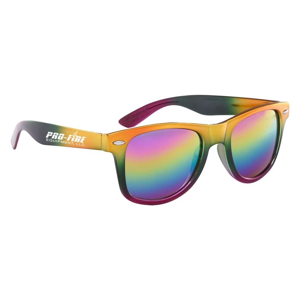 Metallic Rainbow Malibu Sunglasses - Personalization Available