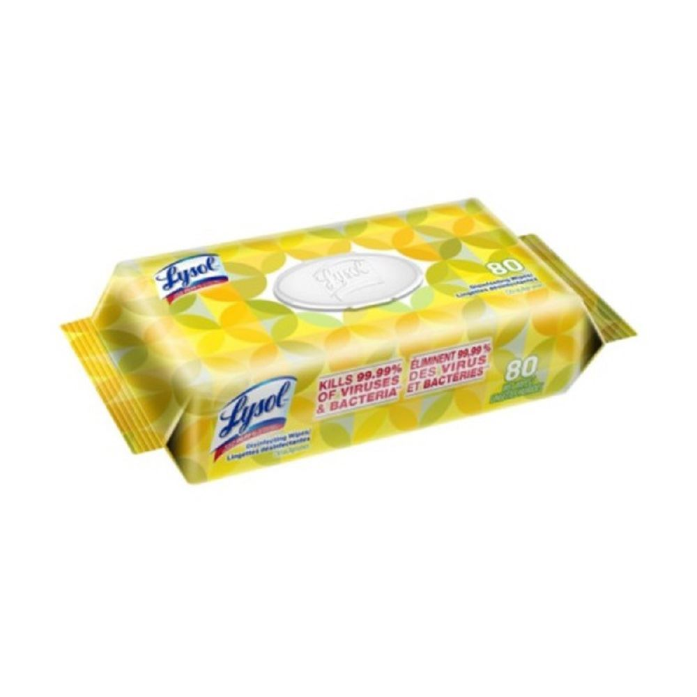 Lysol Wipes 80 Count - Soft Pack