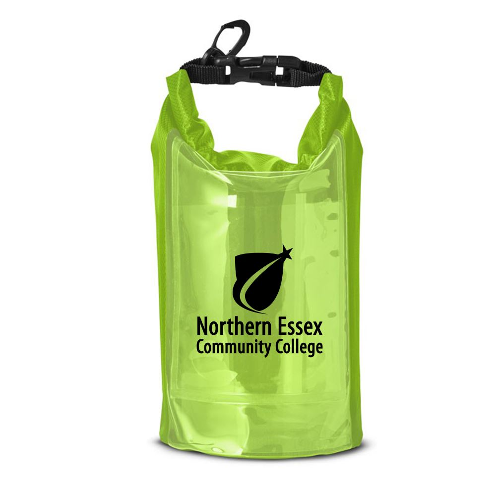 Water Resistant Dry Bag with Mobile Pocket - 2L