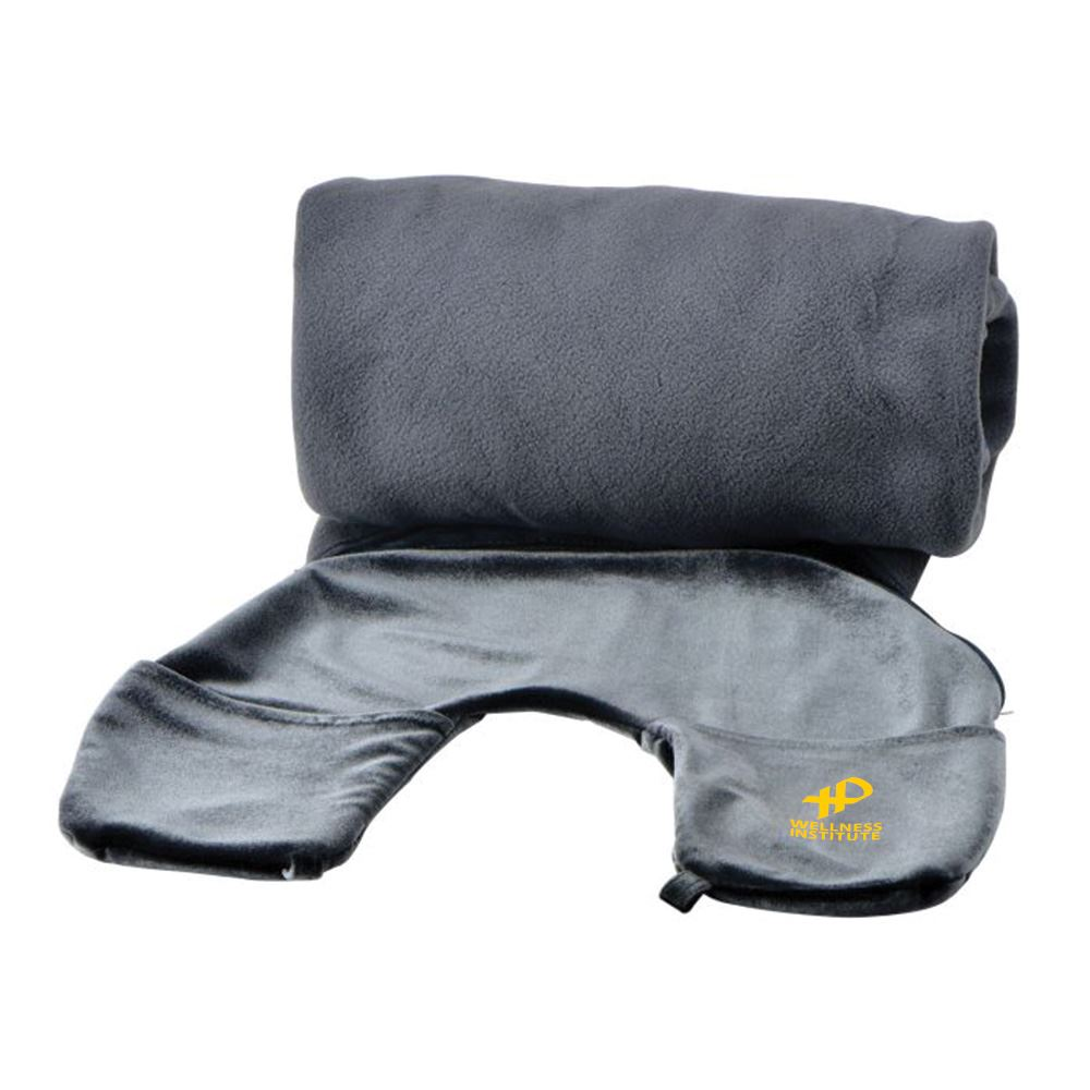 2-in-1 Travel Pillow and Blanket- Personalization Available
