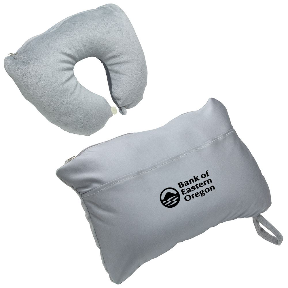 2-in-1 Travel Pillow - Personalization Available