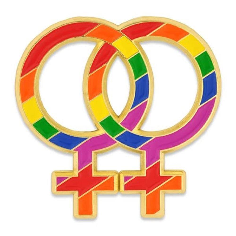 Rainbow Double Venus Lapel Pin