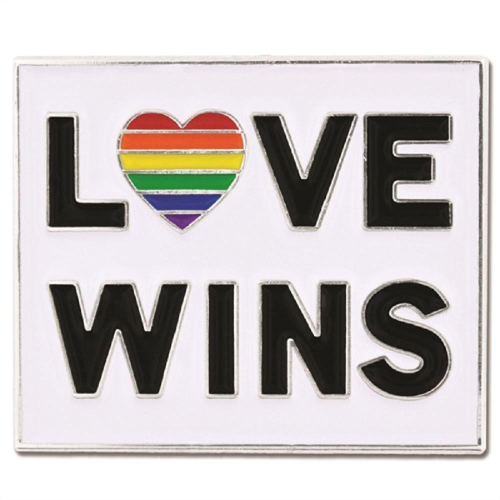 Rainbow Love Wins Lapel Pin