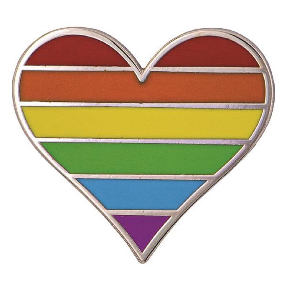 Rainbow Heart Lapel Pin